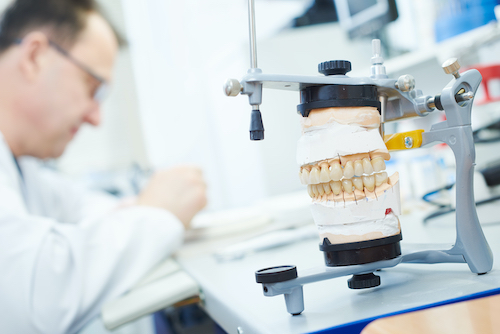 Dentist working on tooth restorations and fillings